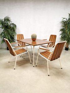 Vintage Danish design garden dining set outdoor tuinset Daneline