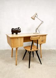 Vintage Dutch design industrial desk bureau jaren 60