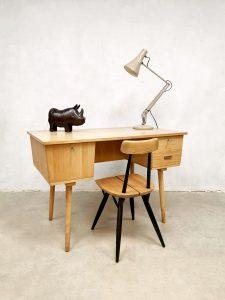 Vintage Dutch design industrial desk bureau jaren 60