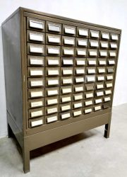 Addressograph vintage metal cabinet USA design Industrial file cabinet