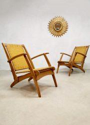 Lawn folding chair outdoor pool armchair klapstoel design vintage Italian