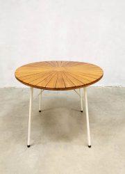 Garden outdoor diningset tuinset teak Denmark Midcentury design tafel stoelen
