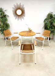Midcentury design garden diningset chairs table outdoor small tuinset Daneline Denmark