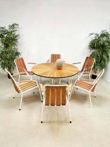 Midcentury Danish design garden dining set tuinset Daneline