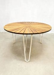 Vintage Danish design table teak top Daneline Denmark