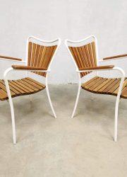 vintage Danish design Daneline outdoor set garden chairs tuinstoelen