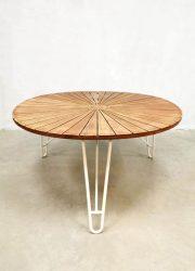 midcentury design outdoor set Daneline Denmark garden table tuintafel