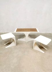 space age table nesting tables bijzettafels 70s Nebu