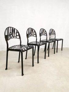 Vintage 'Hello there' dining chairs eetkamerstoelen Jeremy Harvey Artifort