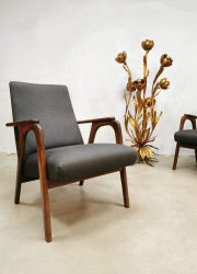 midcentury Dutch design chairs lounge fauteuils