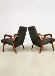 Vintage Danish Dutch design armchairs lounge fauteuils