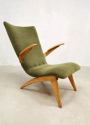 vintage midcentury dutch design arm chairs easy chair G. van Os Culemborg