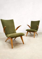 Vintage Dutch design armchairs lounge fauteuils & sofa G. Van Os