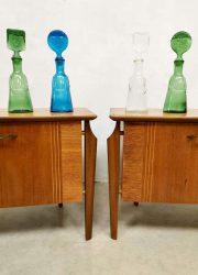 Vintage Dutch design side tables night stands nachtkastjes Webe Louis Teeffelen