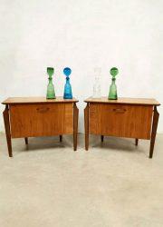 Vintage Dutch design night stands nachtkastjes Webe Louis Teeffelen