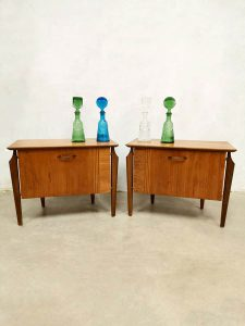 Vintage Dutch design night stands nachtkastjes Webe Louis Teeffelen