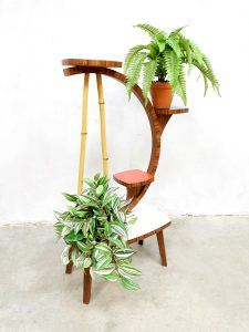 Vintage retro fifties plant stand plantentafel bijzettafel