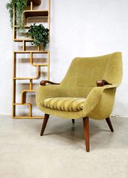 Fauteuils armchairs Dutch vintage Midcentury green