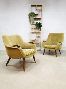Midcentury Dutch design armchairs lounge fauteuils
