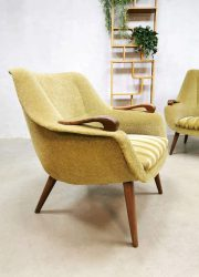 Fauteuils Dutch vintage Midcentury design armchairs green