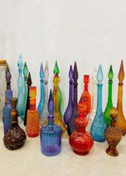 vintage Italian design Genie bottles kristal Italiaanse flessen