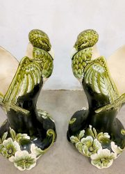 porseleinen vaas keramiek art deco vase ceramic birds antique