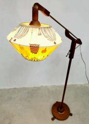 Vintage floor lamp vloerlamp Danish design teak light