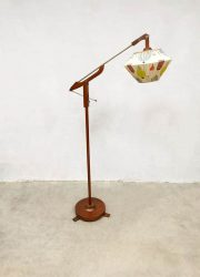 midcentury design lamp floor lamp teak wood