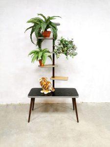 Vintage plant stand fifties sixties black plantenstandaard plantentafel XXL