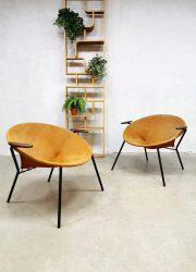 Vintage Danish design balloon chairs lounge fauteuils Hans Olsen Lea