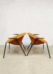 Vintage balloon arm chairs lounge fauteuil Hans Olsen Lea Denmark