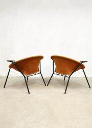 vintage Hans Olsen chairs balloon circle chairs Lea Denmark