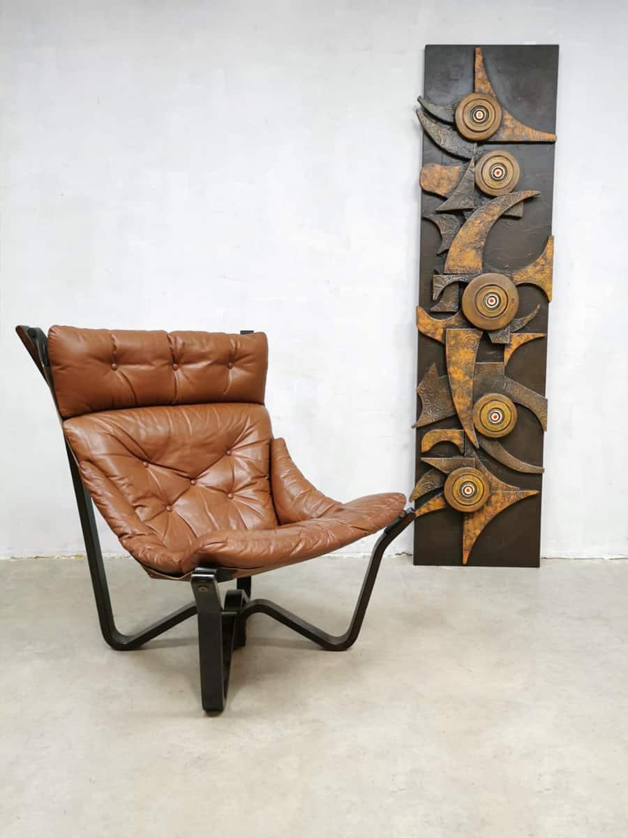 Fauteuil Design Leer.Vintage Scandinavian Design Lounge Chair Fauteuil Jim Myrstad Brunstad