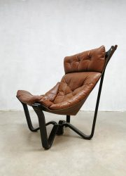 midcentury design fauteuil lounge chair Norway Jim Myrstad Viking chair