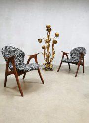 Midcentury armchairs fauteuils Aage Christiansen Erhardsen & Andersen