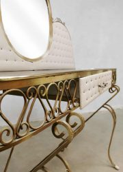 Hollywood regency style vintage baroque dressing table French kaptafel
