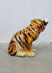 vintage ceramic Tiger sixties Portuge Italy desin handpainted