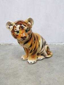 Vintage ceramic Tiger keramiek tijger Portugal