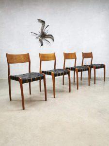 Dining chairs vintage Danish design eetkamerstoelen Deens
