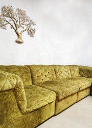 vintage design lounge bank velvet modular sofa Laausser