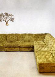Vintage velvet green modular velvet sofa lounge bank Laauser