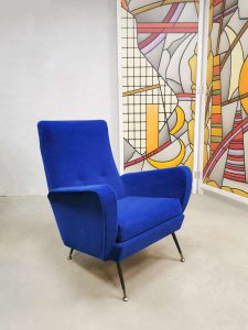 Vintage Italian design armchair lounge fauteuil Zanuso style