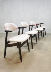 Midcentury design cowhorn dining chairs koehoorn stoelen Tijsseling