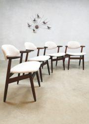 vintage Dutch design cowhorn dining chairs eetkamerstoelen