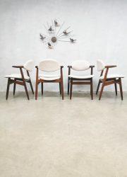 vintage eetkamerstoelen Hulmefa Tijsseling dining chairs