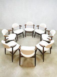 Midcentury design cowhorn dining chairs koehoorn stoelen Hulmefa