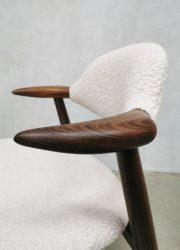 vintage Hulmefa Tijsseling koehoorn stoelen cowhorn chairs