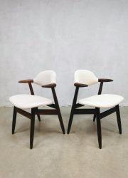 luxury dining chairs vintage Dutch design chairs eetkamerstoelen Hulmefa Tijsseling