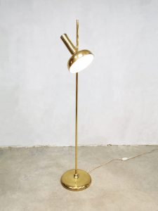 Vintage design brass floor lamp spot vloerlamp mad men style
