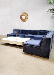 Elementen modulaire bank fabric velvet blue vintage modular sofa XXL Midcentury Modern